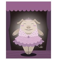 Dancing pig vector image