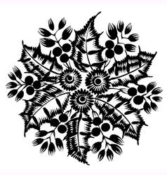 Decorative silhouette vector