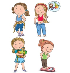 Diet kids vector