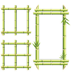 Different frame design of bamboo woods vector