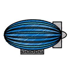 Dirigible ballooon icon vector