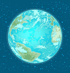 Earth planet weather nature and environment vector