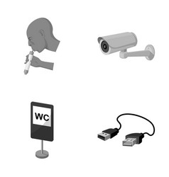 Electricity energy tool and other monochrome vector