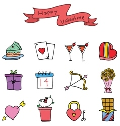 Element of valentine day various collection vector image