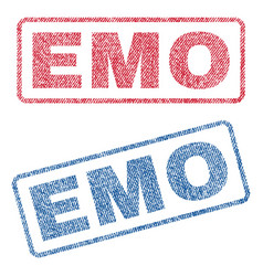 Emo textile stamps vector