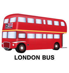 england london bus on white background vector image