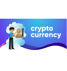 ethereum crypto currency flat colorful poster vector image
