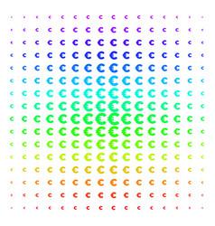 euro icon halftone spectral grid vector image