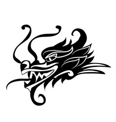 Evil dragon head artwork inspired with vector