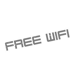 free wifi rubber stamp vector image