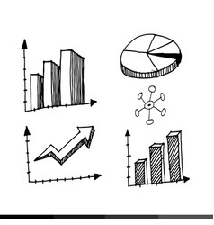 freehand drawing charts design vector image
