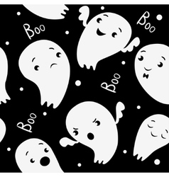Ghosts Seamless Pattern pattern in cartoon style vector