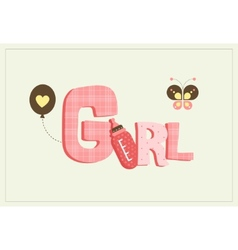 Girl card vector