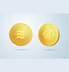 golden coin vector image