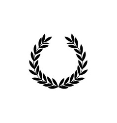 greek wreath symbol and icon victories vector image