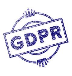 Grunge textured gdpr royal stamp seal vector