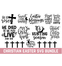 happy easter day calligraphy graphic design typogr vector image