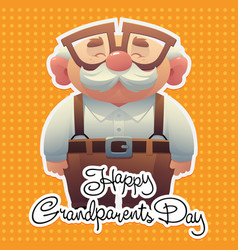 Happy grandparents day background with cute vector