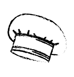 Hat chef drawn accesory icon vector