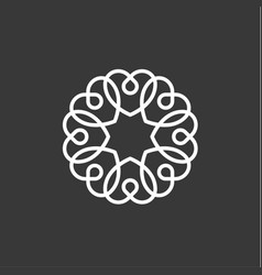Heart pattern flat style quality of vector