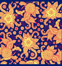 Henna mehndi psychedelic tribal patten bagkround vector