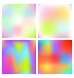 Holographic blurred background iridescent vector