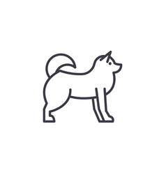 husky line icon sign o vector image