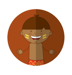 Indian cute boy character vector
