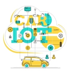 Internet Of Things For The Car vector