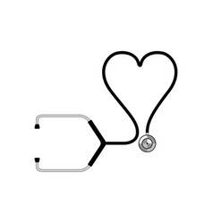 isolated stethoscope icon vector image