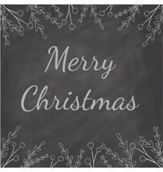 Merry Christmas Chalkboard vector image