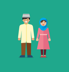muslim man and woman vector image