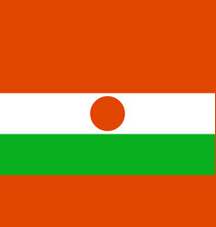 niger flag icon in flat style national sign vector image
