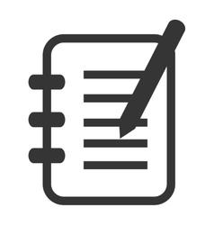 Notebook pencil sheet icon vector image