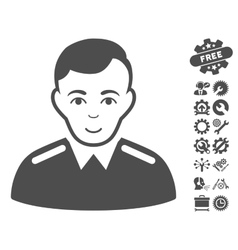 Officer Icon With Tools Bonus vector