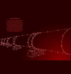 Oil or gas pipeline concept petroleum fuel vector