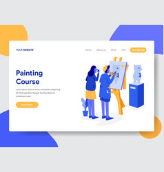 Painting course concept vector