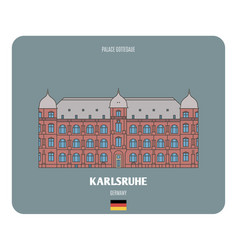 palace gottesaue in karlsruhe germany vector image