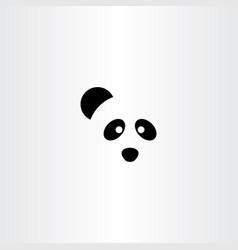 panda logo icon symbol vector image