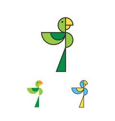 parrot logo template macaw logotype set bird vector image