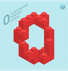 plastic blocs letter o vector image vector image
