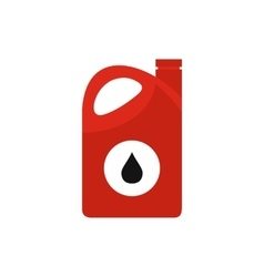 Plastic oil canister flat icon vector
