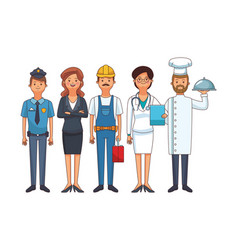 Profession and occupation avatars vector