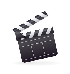 Realistic detailed cinema film clapper icon vector