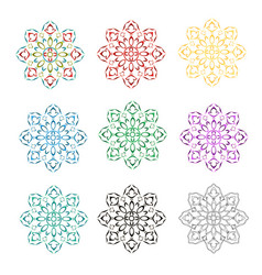 rosette decorative ornamental floral pattern vector image