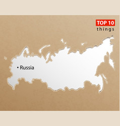 russia map on craft paper texture template for vector image
