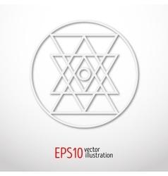 Sacred geometry simbol made of paper Geometry 3d vector
