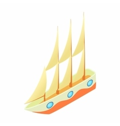 Sailboat icon cartoon style vector
