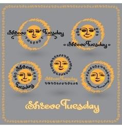 Set of Shrove Tuesday or Shrovetide labels vector