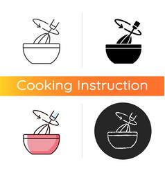 Stir cooking ingredient icon vector